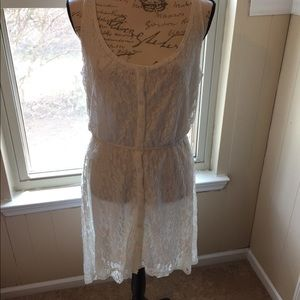 Vintage maiden dress white lace